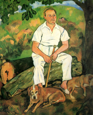 Suzanne Valadon. Andre Utter and his dog