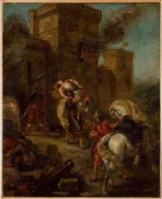 Eugene Delacroix. Abduction of Rebecca II