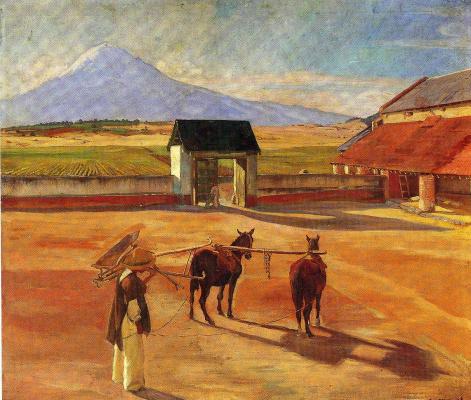Диего Мария Ривера. Лошади