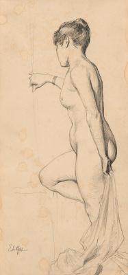 Albert Gustav Aristide Edelfelt. Nude