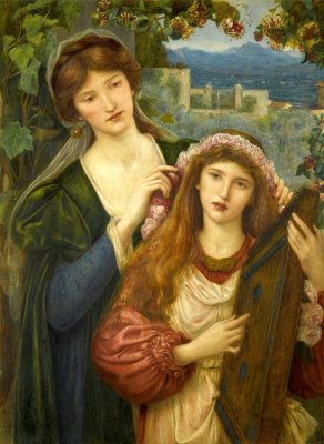 Мария Евфросина Спартали Стиллман. Childhood of Saint Cecilia