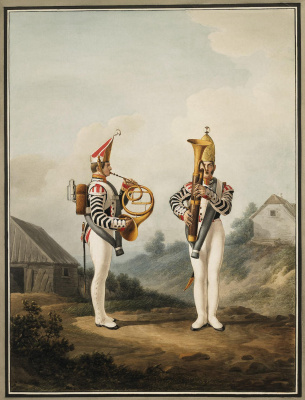 Alexander Ivanovich Sauerweid. The musicians of the life guards Pavlovsky regiment