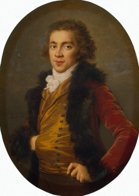 Elizabeth Vigee Le Brun. Portrait of Baron Grigory Alexandrovich Stroganoff