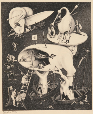 Hell - post-copying of the scene by Hieronymus Bosch