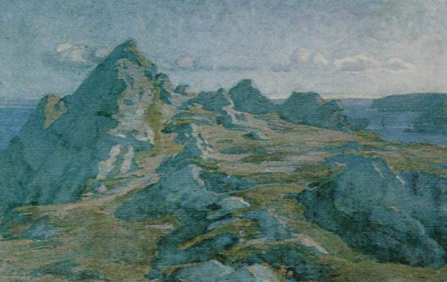 Осип Эммануилович (Иосиф) Браз. Горный пейзаж. Бретань. Около 1912 60х92