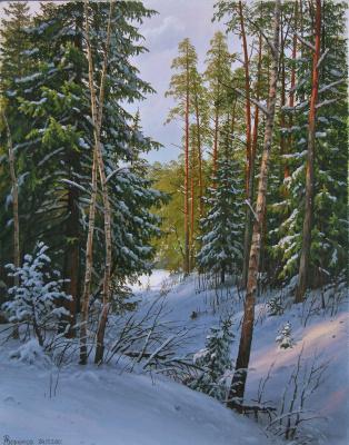 Alexander Vasilyevich Zoryukov. Forest ravine. Winter