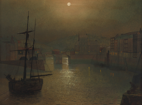 John Atkinson Grimshaw. Whitby. Bay view