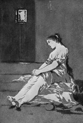 """Francisco Goya. A series of """"Caprichos"""", page 32: Because she was too sensitive"""