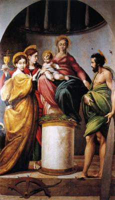 Франческо Пармиджанино. Мистическое обручение Святой Екатерины (Алтарь Барди)