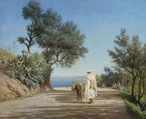 Alexander Pavlovich Bryullov. Road to the sea. Algeria. 1883 Study.