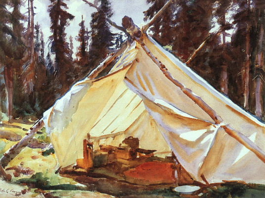 John Singer Sargent. Tent in the Rocky mountains