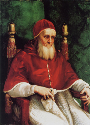 Raphael Sanzio. Portrait of Pope Julius II