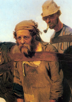 Ilya Efimovich Repin. Barge haulers on the Volga. Fragment