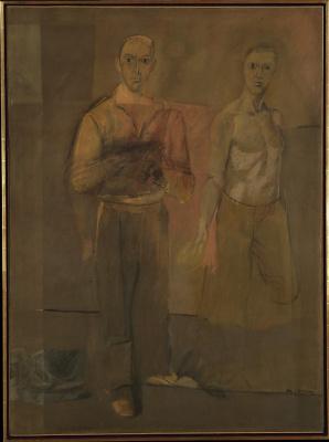 Willem de Kuning. Two men standing