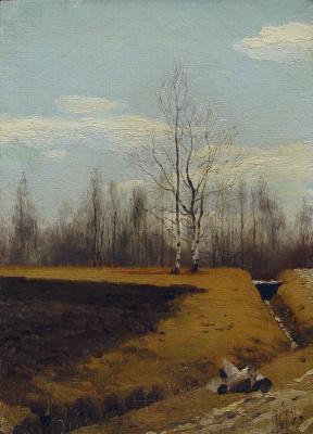 Andrei Petrovich Ryabushkin. Arable land. 1892