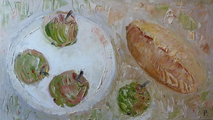Svyatoslav Ryabkin. Bread and apples Bread and apples