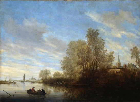 Саломон ван Рёйсдал. Вид на реку