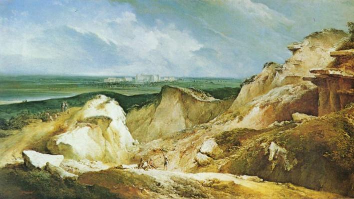Иоганн Кристиан Бранд. Песчаные карьеры