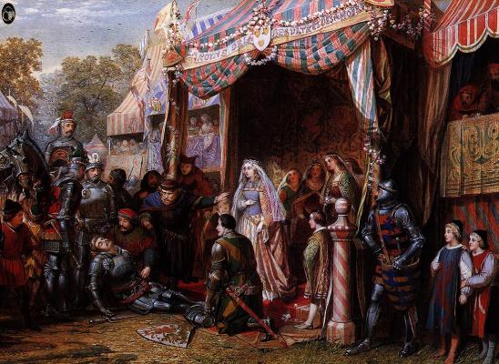 Edward Coley Burne-Jones. Lancelot hit Madora