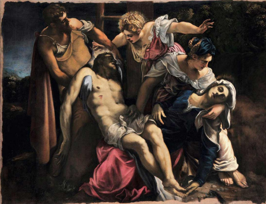Jacopo Tintoretto. The descent from the cross