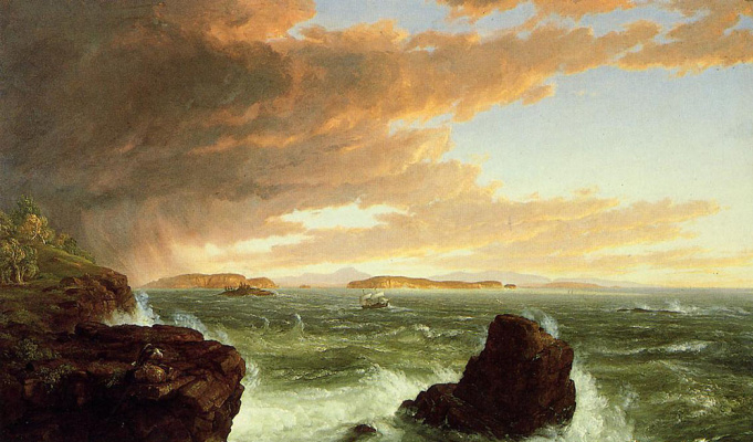Thomas Cole. View of the Bay from the mountain
