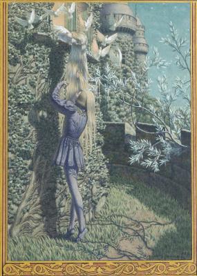 """Carlos Schwabe. Illustration for Maurice Meterlink's play """"Pelleas and Melisande"""". 1892"""