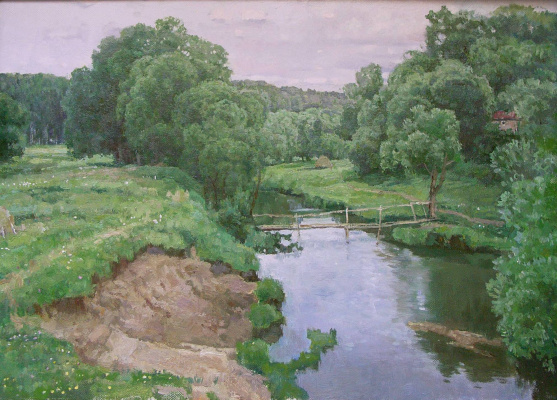 Boris Petrovich Zakharov. Summer on the river Rojane.