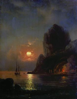 Alexey Petrovich Bogolyubov. Moonlit night at sea