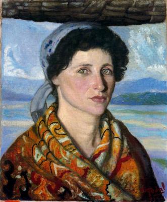 Антонио Медаль. Портрет женщины в косынке