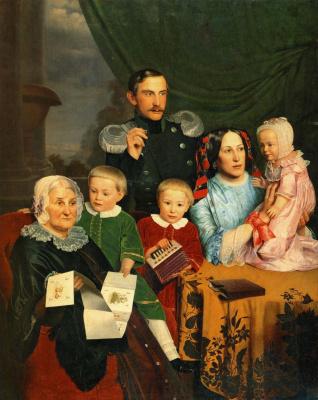 Федор Михайлович Славянский. Семейный портрет