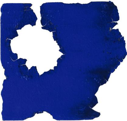 Yves Klein. Monochrome blue burnt hole