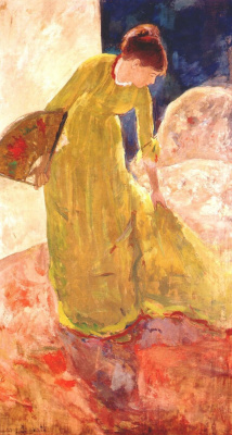 Mary Cassatt. Woman holding a fan