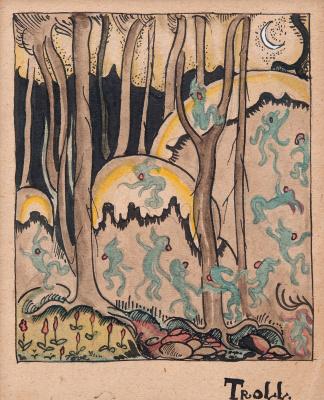 Tove Jansson. Hatifnatty, fabulous forest creatures