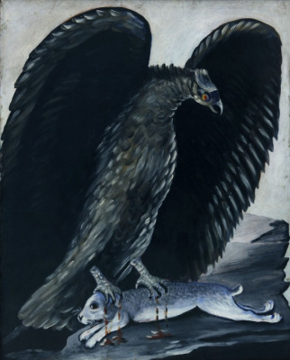 Niko Pirosmani (Pirosmanashvili). The eagle grabbed the hare