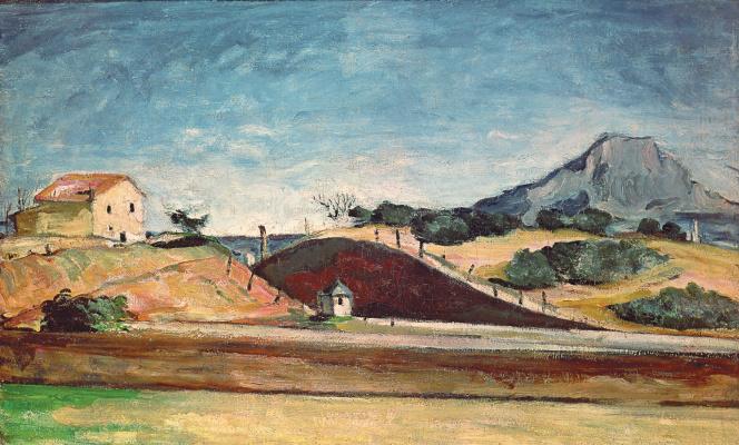 Paul Cezanne. Road with mount Sainte-Victoire