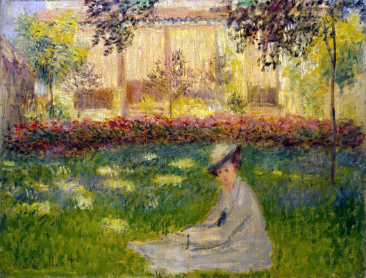 Claude Monet. The woman in the garden