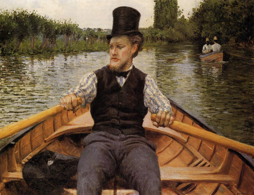 Gustave Caillebotte. Rower in the cylinder