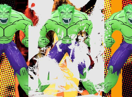 Джефф Кунс. Triptych Hulk Elvis III