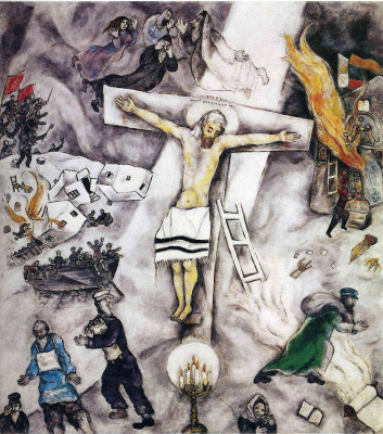 Marc Chagall. White crucifixion
