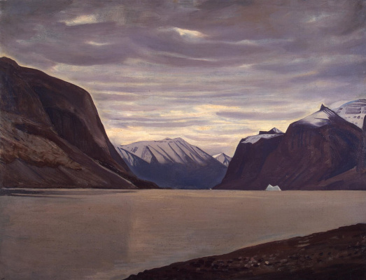 Rockwell Kent. Cloudy day. Fjord in Northern Greenland