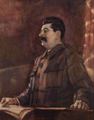 Alexander Mikhailovich Gerasimov. Portrait of Joseph Stalin at the XVII Congress of the CPSU(b)