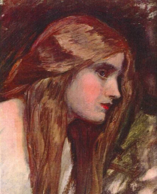 John William Waterhouse. Phyllis. Etude