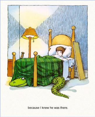 Мерсер Мейер. Иллюстрация к книге Там крокодил под моей кроватью 04