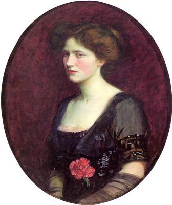 John William Waterhouse. Portrait of Mrs Charles Schreiber