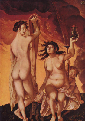 Hans Baldung. Two witches