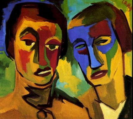 Карл Шмидт-Ротлуф. Двойной портрет