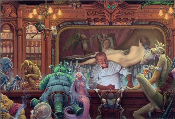 Ночь в баре