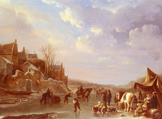 Андриес Вермюлен. Зимняя сцена в Голландии