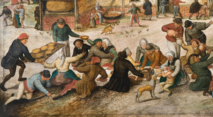 Peter Brueghel The Younger. Wedding feast in the village II. Fragment