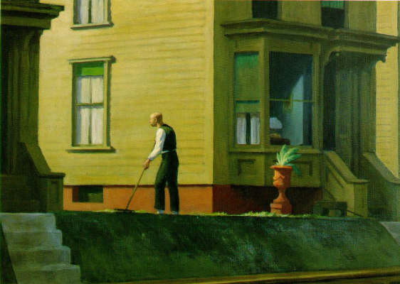 Edward Hopper. The coal town in Pennsylvania